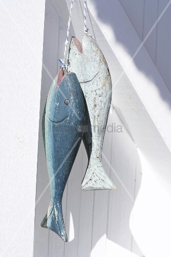 Wooden fish on a wooden wall