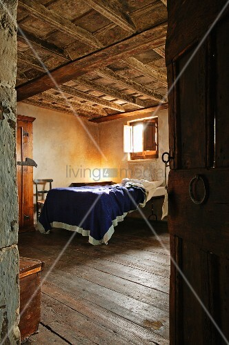 View Of Bed In Rustic Bedroom With Buy Image 11081499