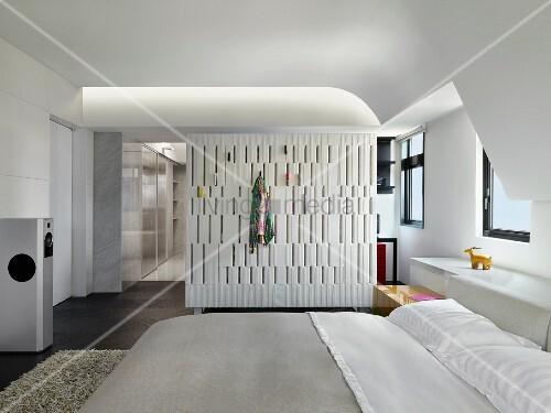 Hervorragend Offenes Schlafzimmer Mit Ankleide Im Designerstil