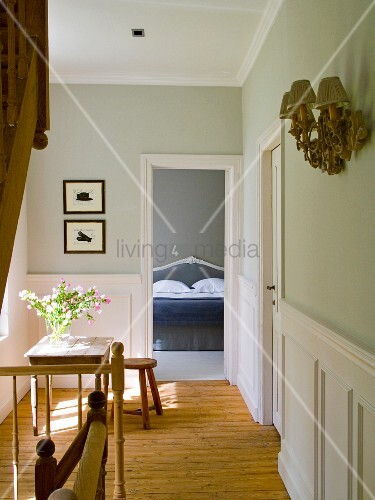 View into bedroom of B&B