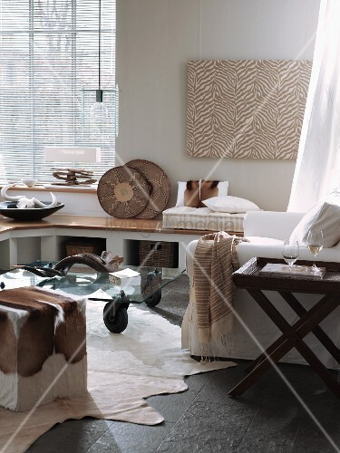 African-style living room