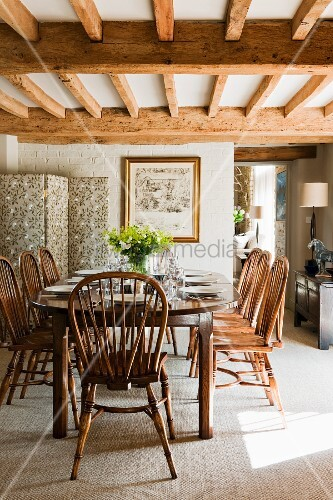 Esszimmer im landhausstil mit gediegenen bild kaufen for Esszimmer im landhausstil