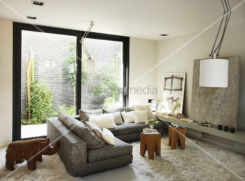 Corner Sofa With Small Tables And Buy Image 11173437
