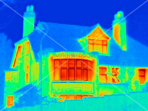 Thermal image of town house