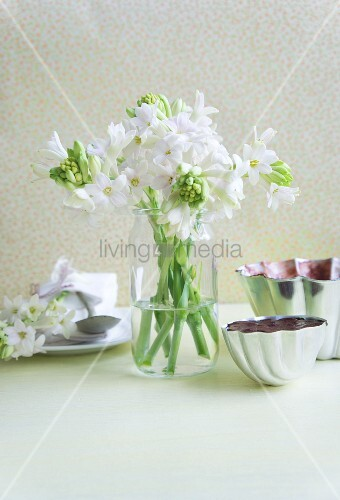 Bouquet of white hyacinths