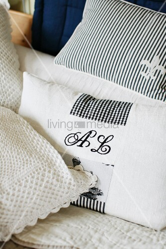Black and white scatter cushions