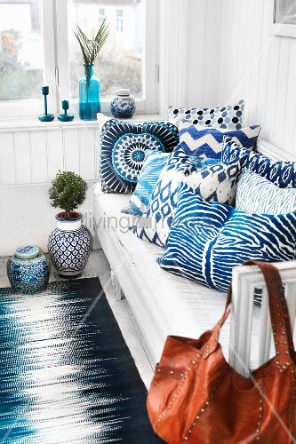 Super White And Blue Patterned Scatter Buy Image 11294021 Alphanode Cool Chair Designs And Ideas Alphanodeonline
