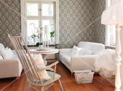 Remarkable Comfortable Living Room With White Sofa Buy Image Pabps2019 Chair Design Images Pabps2019Com