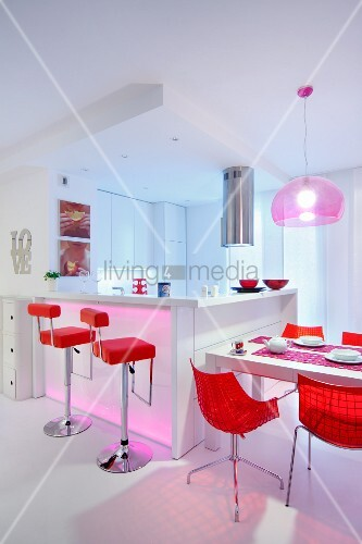 Bright Red Shell Chairs And Bar Stools Buy Image 11331829