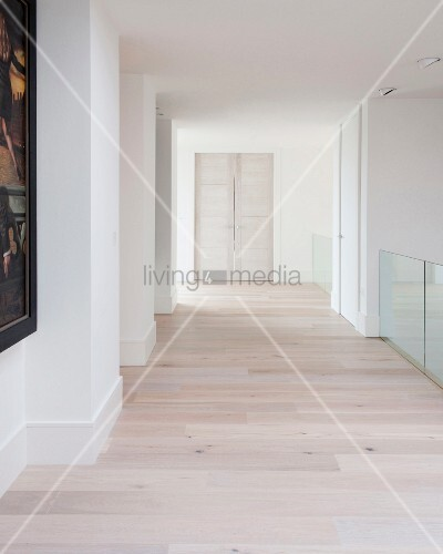 Hallway in contemporary home