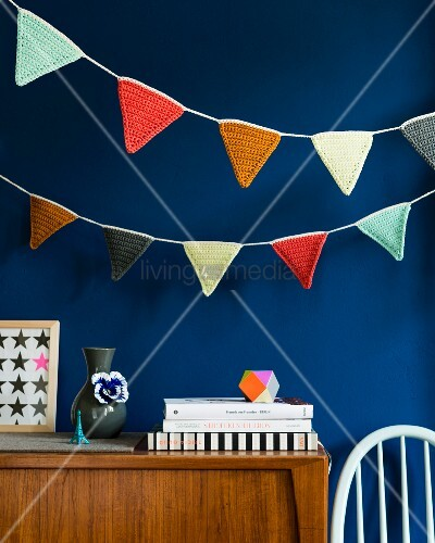 Decorative self-crocheted bunting