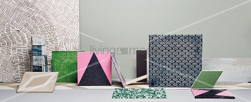 Various sized tiles with different patterns