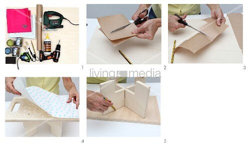 Instructions for making a wooden tray table