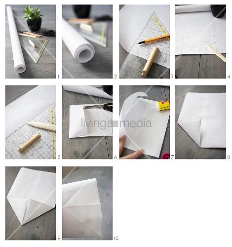 Eine Papiertüte aus Packpapier basteln