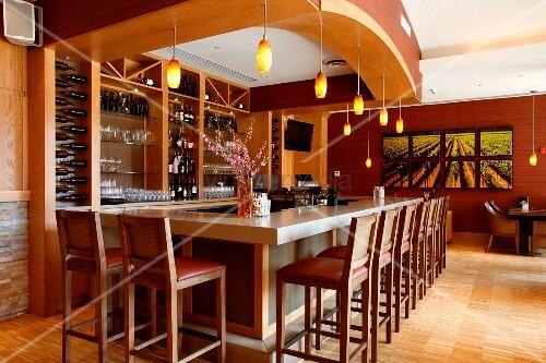 Wine Bar in Luxury Hotel Watermark Beach Resort in Osoyoos British Columbia