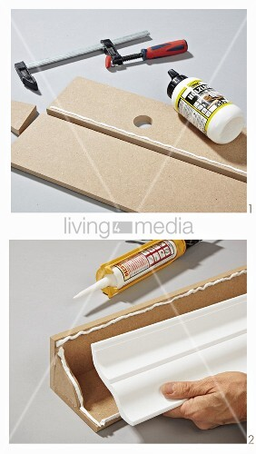 Instructions for making moulding from MDF boards and polystyrene trim