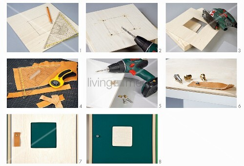 Anleitung für kreative Gestaltung von Schranktüren