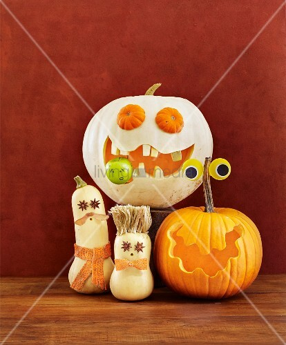 Funny Halloween pumpkin monsters