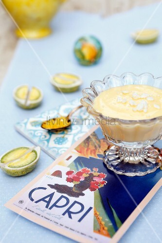 Lemon cream with meringue (Campania, Italy)