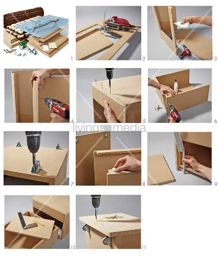 Instructions for building a coffee table from MDF