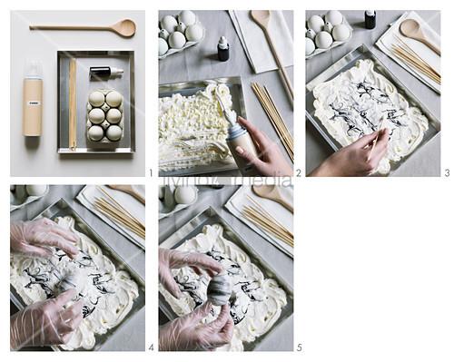 Instructions for marbling eggs