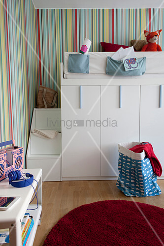 Loft bed with steps and storage … – Buy image – 12978933 ...
