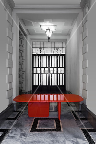Red, Japanese-style designer table
