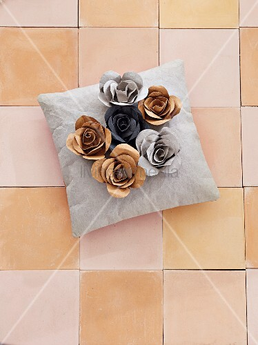 DIY roses made of vegan leather