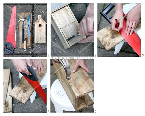 Instructions for making small, ornamental wooden houses