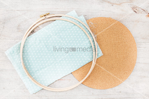 Materials for making pinboard in embroidery frame