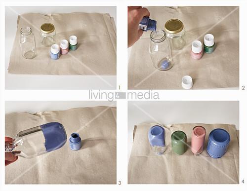 Vasen aus alten Gläsern herstellen