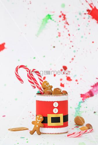 Hand-made, Father-Christmas gift box