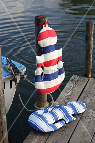Hand-made anchor-shaped cushions