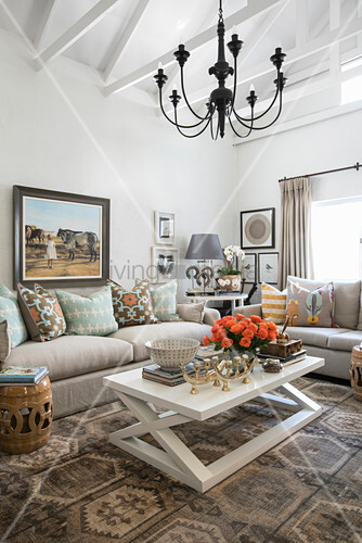 Elegant living room with ethnic ambiance