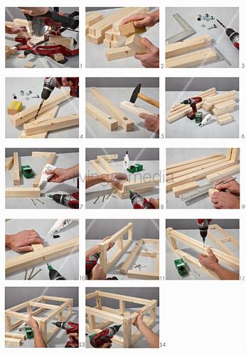Anleitung für das Holzgestell eines Couchtischs