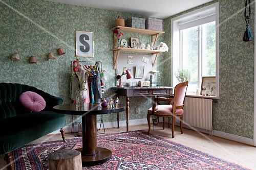 Wohnzimmer im Granny Chic mit … – Bild kaufen – 12469975 ...