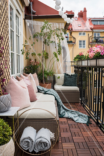 Outdoor furniture on balcony