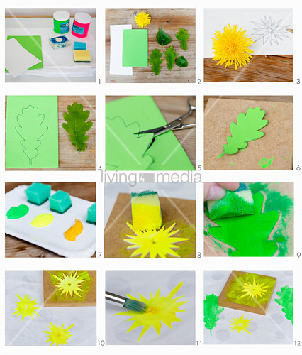 Instructions for making foam rubber stamps