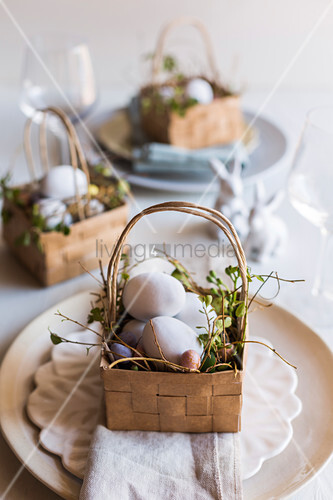 Hand-made paper Easter baskets