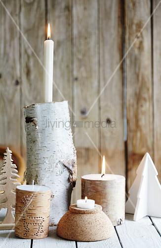 DIY-Kerzenhalter aus Birkenast