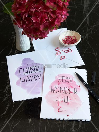 Homemade greetings cards