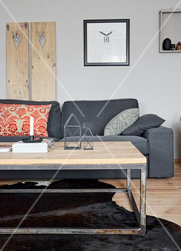 Holzpaneele Wand Grau Zuhause