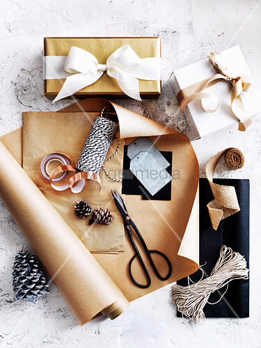 Christmas wrapping utensils