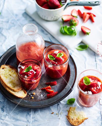 Tomato and Strawberry Gazpacho