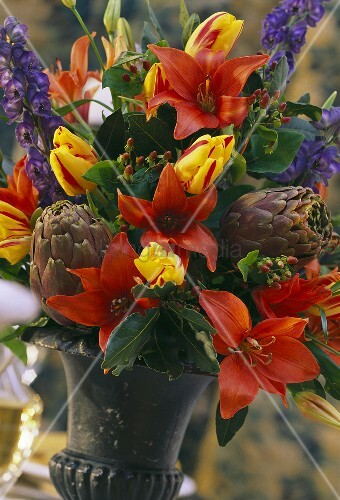 Flower and Artichoke Bouquet